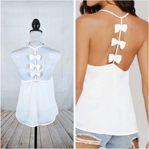 New Sexy Spring Summer Bow T-back Camisole Top